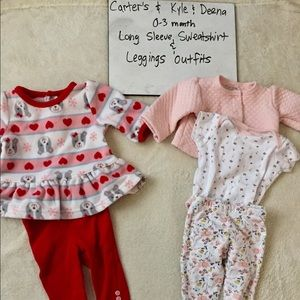 GUC 0-3 mth Sweatshirt & Leggings Outfits
